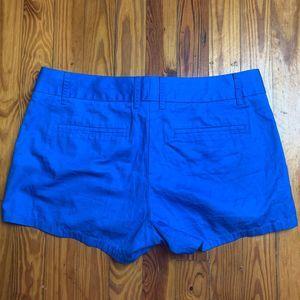 J. Crew Cotton Chino Shorts Blue Size 6